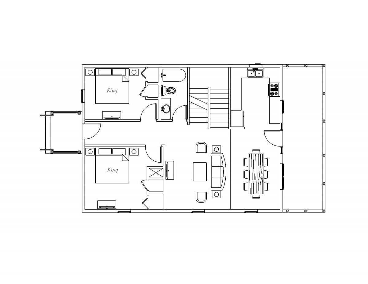 6 Bedroom Upper Level  Cottages Accommodations Arrowwood Resort Alexandria MN