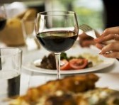 Wine at dinner